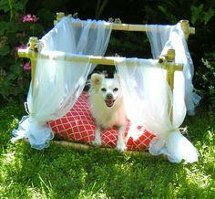 Sew DoggyStyle: DIY Dog Bed - Bamboo Frame
