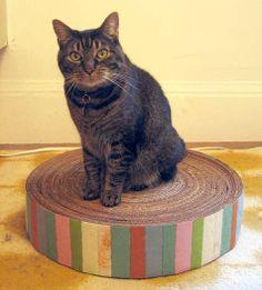 Recycled cardboard cat pad