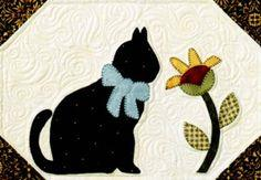 Cat Templates - Clip Art, Stained Glass Patterns, Pumpkin Carving : free cat quilt patterns download - Adamdwight.com