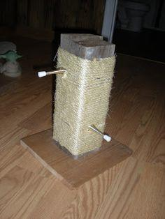 Build a cat tree or scratching post with ideas from for Homemade cat post