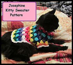 Josephine Kitty Cat or Small Dog Crochet Sweater Pattern