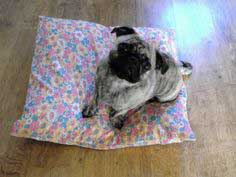 Pillow dog bed tutorial