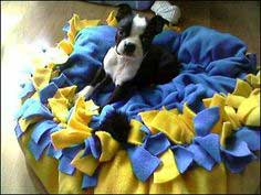 Fleece Puppy Bed with Tutorial