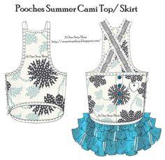 Pooches Summer Cami Top / Skirt