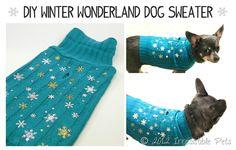 DIY WINTER WONDERLAND DOG SWEATER