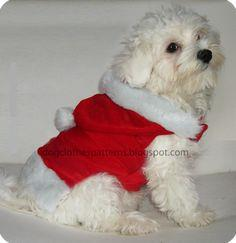 Santa Claus dog outfit patterns