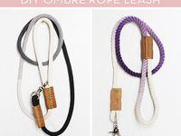 How To: Make a Modern Dip-Dyed Rope Dog Leash