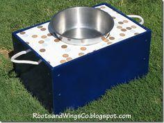 toybox to raised dog dish