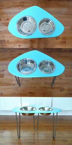 DIY Mod Dog Bowl Stand