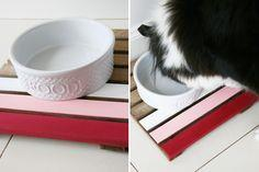 Upcycled Ombre DIY Dog Feeder | Tutorial