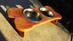 Wooden Dog Bowl Table for Spot