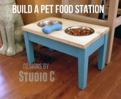 Plans For an Easy Pet Food Station