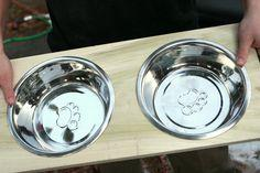 Easily create a DIY dog dish stand for your pet to use during meals