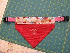 DIY slide on dog bandana