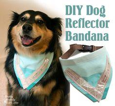 DIY Dog reflector bandana