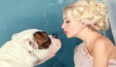 Teach your dog to kiss