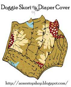 Doggie Skort & Diaper Cover Sewing Patterns