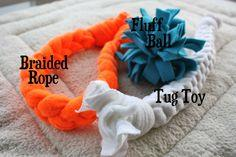 Fleece Rope & Fluff Ball Toys