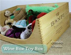 Wine Crate Dog Toy Box or Dog Bed