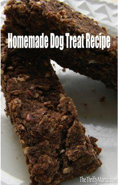 Homemade Dog Treat Recipe | Banana Carob Biscotti