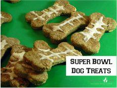 Super Bones {Super Bowl Dog Treats}