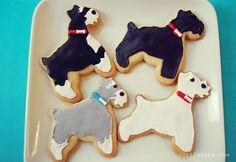 DIY schnauzer sugar cookies — yuki and rocket