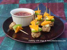 Cooking for Dogs Turkey Meatballs with Cranberry Mustard Dipping Sauce
