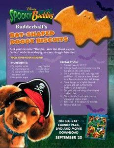 Spooky Buddies Doggy Biscuit Recipe
