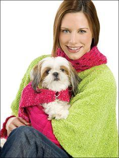 Adorable chenille doggy poncho pattern