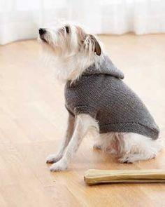 Dog Knit Hooded Coat Pattern