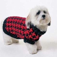 Houndstooth Dog Sweater pattern