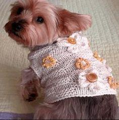 Basket of Daisies Dog Sweater pattern