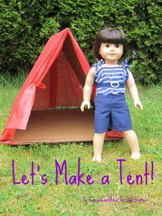 How to Make a Doll Sized Tent