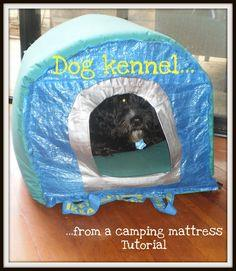 Dog kennel & cat tent from an Ikea bag and camping mattress - IKEA Hackers