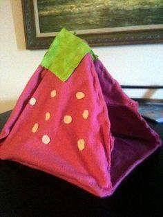 Strawberry Cat Tent #howto#tutorial